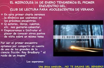 Club de lectura para adolescentes - Biblioteca Ernesto Herrera