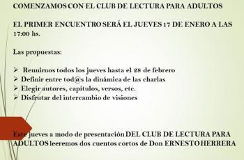 Club de lectura para adultos - Biblioteca Ernesto Herrera