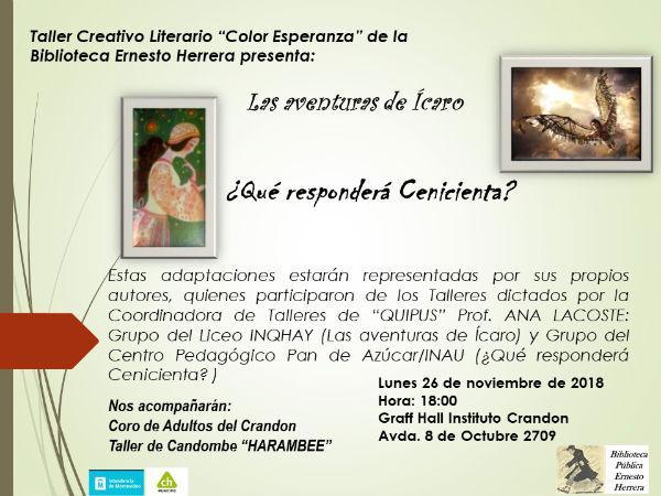 Presentación: obras de los talleres de teatro de Biblioteca Herrera.