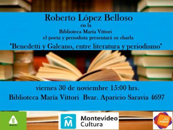 Roberto López Belloso en la Biblioteca María Vittori.